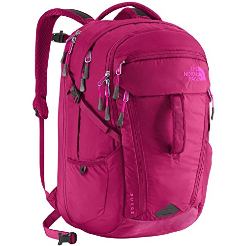 The North Face Women's Surge Backpack, Dramaticplum/Luminouspink, One Size