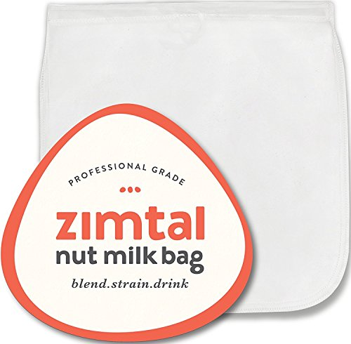 Premium Quality - Nut Milk Bag - XL - 13 ' X 13 ' - Smoothie Strainer - Cold Brew Coffee Maker- Free Recipes Included - Reusable - Filter Bag - Professional Industry - Largest on Amazon