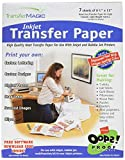 Transfer Magic Ink Jet Transfer Paper-8-1/2 X11 7/Pkg
