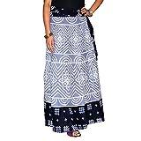 Product review of Wrap Skirt Bandhej Printed Cotton Gypsy Sarong Bandhani Wrap Around Long Skirt