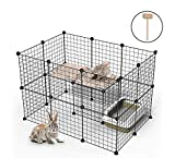 YOUKE Pet Playpen, Small Animal Cage Indoor Portable Metal Wire Yard Fence for Small Animals, Guinea Pigs, Rabbits Kennel Crate Fence Tent, 24 Panels