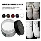 Leather Repair Kit, Jessie storee Vinyl Leather Refinish Restore Quick for Furniture Upholstery Couch Car Seats Sofa Jacket Purse Belt Shoes Sofa Bonded Cracked Faux Tear Crack Scratch (White)