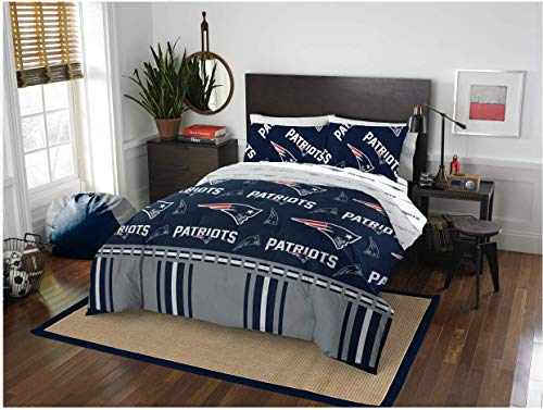 New England Patriots NFL Full Comforter & Sheets, 5 Piece NFL Bedding, New! + Homemade Wax Melts