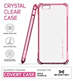 Ghostek iPhone 6S Case, Covert Series for Apple iPhone 6 & 6S Premium Impact Protective Armor Case Cover | Clear TPU | Explosion-Proof Screen Protector | Ultra Fit (Rose Pink)
