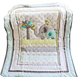 Baby Elephant Crib Bedding Quilt