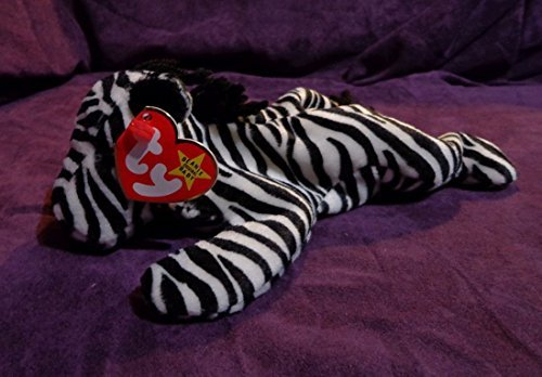 RARE Retired 'Ziggy the Zebra' Ty Beanie Babies w/MINT tags, PVC Pellets, No # Stamp, Errors