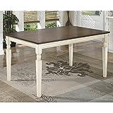 Ashley Furniture Signature Design - Whitesburg Dining Room Table - Rectangular - Vintage Casual - Brown/Cottage White