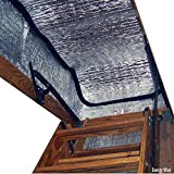 Energy Wise Attic Stairway Cover - 25' x 54' x 11' - R-Value of 14.5 - Attic Stairs Insulation Tent