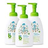 Babyganics Baby Shampoo + Body Wash Pump Bottle, Fragrance Free, 16oz, 3 Pack, Packaging May Vary
