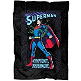 "WISTANK Superman Kryptonite Never More Soft Fleece Throw Blanket, Superman Fleece Luxury Blanket (Large Blanket (80""x60""))"
