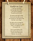'Father-in-Law- I Thank God for You'- 8 x 10' Wall Art-Ready to Frame. Vintage Parchment Print-Heartfelt Gift Saying Thank You for Welcoming Me. Perfect Keepsake Gift for Any Father-in-Law's & Brides.