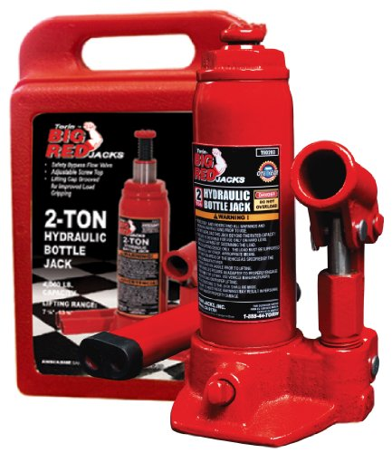 Torin Big Red Hydraulic Bottle Jack with Carrying Case, 2 Ton Capacity