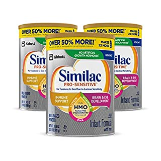 Similac Pro-Sensitive is designed for fussiness and gas due to lactose sensitivity (not for infants or children with galactosemia). Similac Pro-Sensitive is the first infant formula for sensitive tummies with 2'-FL human milk oligosaccharide,* an ...