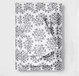Threshold Holiday Flannel Printed Sheet Set Gray Snowflake - Full