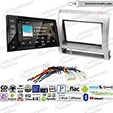 Volunteer Audio Kenwood DDX276BT Double Din Radio Install Kit with Bluetooth, Sirius XM Ready, Touchscreen Fits 2005-2011 Non Amplified Toyota Tacoma (Silver)