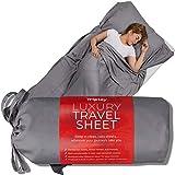 Tripley Travel Sheet, 100% Tencel, Ultra Soft Portable Sleeping Bag Sheet Liner for Travel, Made from Natural Plant-Based Tencel Lyocell Fibers, Satin Weave