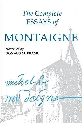 michel de montaigne the complete essays | Textpoems.org
