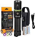 FENIX UC30 2017 Edition 1000 Lumen USB Rechargeable LED Flashlight with Rechargeable 2600mAh Battery, Holster, USB Charging Cable and 2x Backup LumenTac CR123A Batteries