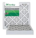 FilterBuy 14x14x1 MERV 8 Pleated AC Furnace Air Filter, (Pack of 4 Filters), 14x14x1 - Silver