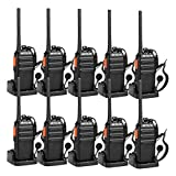 Retevis H-777S Two-Way Radios Long Range Rechargeable FRS Radio Vox Security Walkie Talkies with Earpiece Headset Earhook for Business (10 Pack)