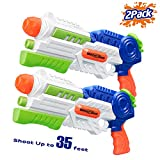HITOP Super Soaker Water Gun, 2 Pack Squirt Guns Water Guns for Kids Adults, 36oz High Capacity Fast Soaking Trigger Summer Water Blaster Toy for Swimming Pools Party Outdoor Beach Sand Water Fighting