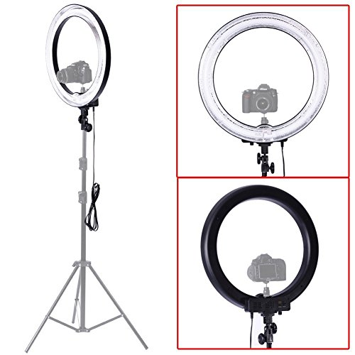Neewer Camera Photo/Video 18″Outer 14″Inner 600W 5500K Ring Fluorescent Flash Light (Light Only)