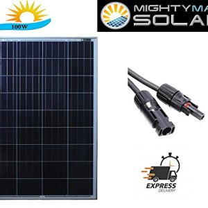 100 Watts 100W Solar Panel 12V – 18V Poly Off Grid Battery Charger for RV – Mighty Max Battery brand product