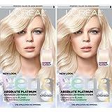 L'Oréal Paris Feria Multi-Faceted Shimmering Permanent Hair Color, Extreme Platnium, 2 COUNT Hair Dye