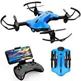 DROCON Ninja Drone for Kids & Beginners FPV RC Drone with 720P HD Wi-Fi Camera,Quadcopter Drone with Altitude Hold, Headless Mode, Foldable Arms, One Key take Off/Landing, Blue