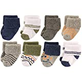 Luvable Friends Baby 8 Pack Newborn Socks, Boy Aztec, 0-6 Months