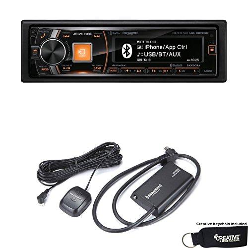 Alpine CDE-HD149BT Advanced Bluetooth CD Receiver with HD Radio and Sirius XM Tuner Bundle
