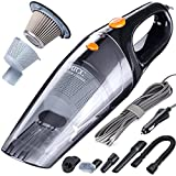 MATCC Corded Car Vacuum,DC 12V 110W 5500PA High Power Stronger Suction Car Vacuum Cleaner,Cyclonic Powerful Suction,Stainless Steel HEPA Double Filtration with 16.4FT(5M) Stronger Power Cord