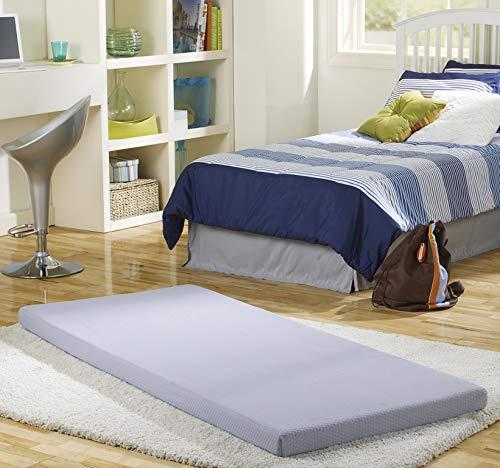 Simmons BeautySleep Siesta Memory Foam Mattress: Roll-Up Guest Bed/Floor Mat, 3' Twin