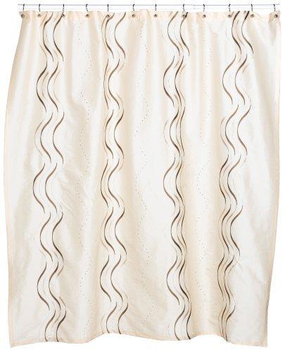 Croscill Dante Embroidered Shower Curtain, Champagne by Croscill