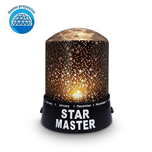 Redlemon Lámpara Proyector de Estrellas con Domo para Niños 2 Modos de Iluminación de Luz LED...