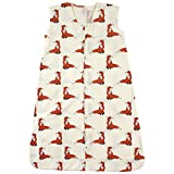 Touched by Nature Baby Organic Cotton Wearable Safe Sleeping Bag, Boho Fox, 12-18 Months