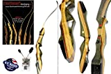 Spyder Takedown Recurve Bow and Arrow Set – 62' Recurve Hunting Bow – Right & Left Hand – Draw Weights in 20-60 lbs – USA Based Company – Perfect for Beginner to Intermediate