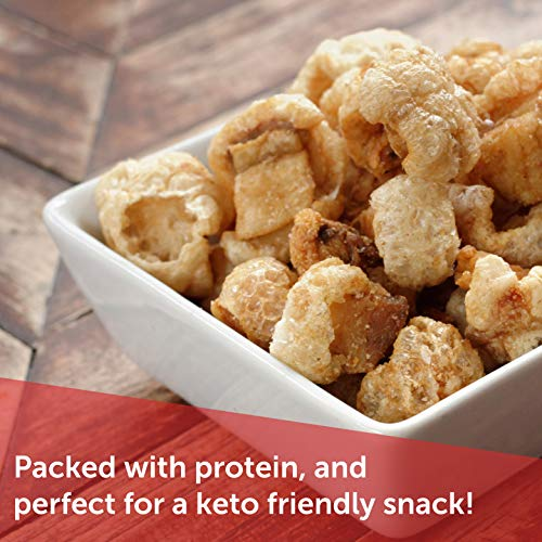 Utz Pork Rinds, Original Flavor - Keto Friendly Snack with Zero Carbs per Serving, Light and Airy Chicharrones with the Perfect Amount of Salt, 18 Ounce (Pack of 2) 7