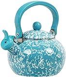 Calypso Basics by Reston Lloyd Whistling Teakettle, 2 quart, Turquoise Marble