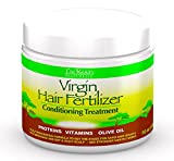The Roots Naturelle Virgin Hair Fertilizer Conditioning Treatment. Helps Strengthen Hair, Promote Rapid Hair Growth and Protect/Restore Damaged Hair (Large 16oz)