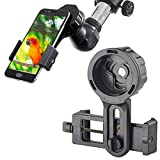 Cell Phone Adapter Mount - Tiaoyeer Cellphone Smartphone Quick Photography Adapter Mount Compatible Binocular Monocular Spotting Scope Telescope Microscope, Fits Almost All Smartphone on The Market
