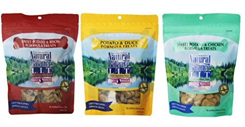 Dick Van Patten's Natural Balance L.I.T,Sweet Potato & Bison Formula,Natural Balance L.I.T. Sweet PotatO Chicken Formula,Natural Balance L.I.T. Potato & Duck Formula, 8 Oz each 1