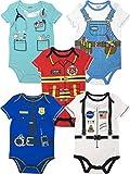 Funstuff Baby Boy Girl 5pk Bodysuits Fire Fighter Astronaut Doctor Police Handyman (18 Months)