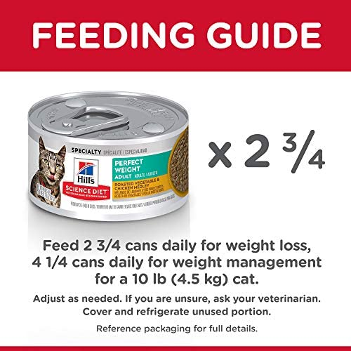 Hill's Science Diet Canned Wet Cat Food, Adult, Perfect Weight for Weight Management 9