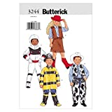 Butterick B3244 Astronaut, Firefighter, Cowboy, and Cowgirl Children's Halloween Costume Sewing Pattern, Sizes 6-8
