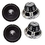 4) HIFONICS HFX12D4 12' 2400W Car Audio DVC Subwoofers Power Bass Subwoofers