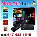 MAG 254 IPTV Full HD 3D Media Streamer STB - WiFi & HDMI Bundle Pack 2016 v2.7 Model