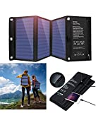 21W Portable Foldable Solar Panel Charger, Dual USB 2.4A Fast Solar Charger,Portable Outdoor Solar Power Charger for Camping,Hiking, Portable Charger for iPhone X 8,iPad,Android,Galaxy S8 Edge,More
