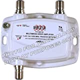 PCT 1-PORT BI-DIRECTIONAL CABLE TV HDTV AMPLIFIER SIGNAL BOOSTER WITH PASSIVE RETURN PATH