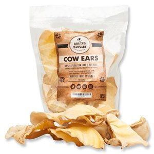 BRUTUS & BARNABY All Natural, Whole Cow Ears for Dogs, Harvested from Free Range, No Hormone's Added, Grass Fed Cattle, USDA/FDA Approved 8